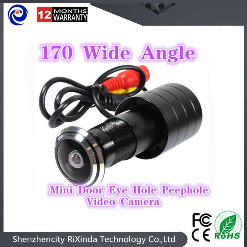 2017 hot sell 170 Wide Angle CCD Wired Mini Door Eye Hole Peephole Video Camera Color DOORVIEW CCTV Camera