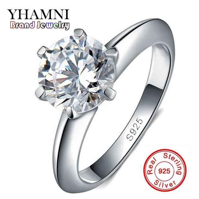100% Real Solid 925 Sterling Silver Rings Set 1.5 Carat Sona CZ Diamond Silver Wedding Rings for Women Silver Fine Jewelry YR121