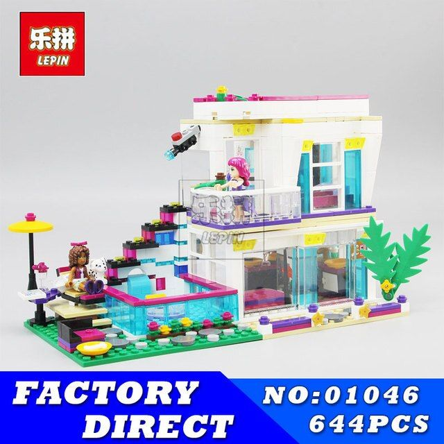 Friends Classic Villa House Model Set LEPIN 01046 644Pcs Building Blocks Bricks Educational Toys for Girls Gifts Brinquedos
