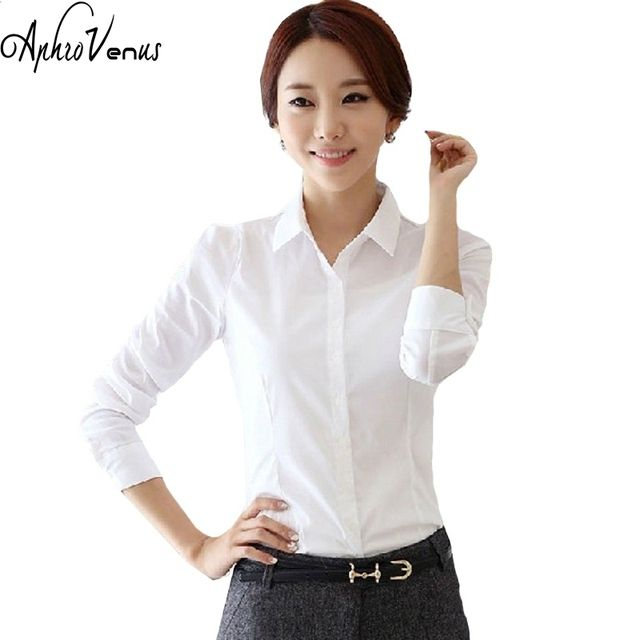 2016 Top Quality Summer Style Chiffon Blouse Women Shirts Long Sleeve Turn Down Collar White Ladies Shirt Blusas Femininas