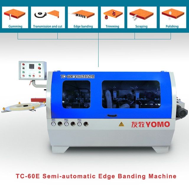 woodworking semi-automatic edge banding machine TC-60E  edge bander with scraping
