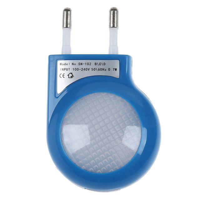 Blue LED Sensor Night Lamp with 0.7W Low Power Plug