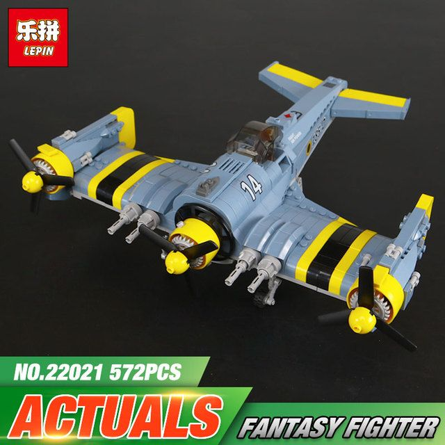 Lepin 22021 Technical Series The Beautiful Science Fiction Fighting Aircraft Set Building Blocks Bricks Funny Toys Model Gift