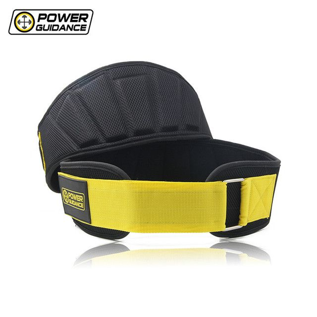 Power Guidance Nylon Weightlifting Belt Lumbar Waist Support Trainer Protector Belts For Weight Lifting Fitness Sport GYM