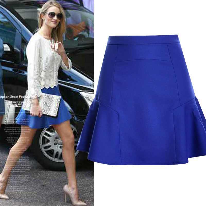 Midi Skirt 2017 Summer Women Clothing High Waist Skirts Pleated A Line Casual Knee Length Saia Petticoat WSK004