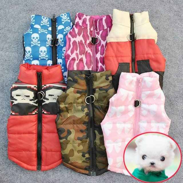 Winter Warm Pet Dog Clothes Vest Harness Puppy Coat Jacket Apparel 6 Color Large New Small Dog Cat Dogs Clothes