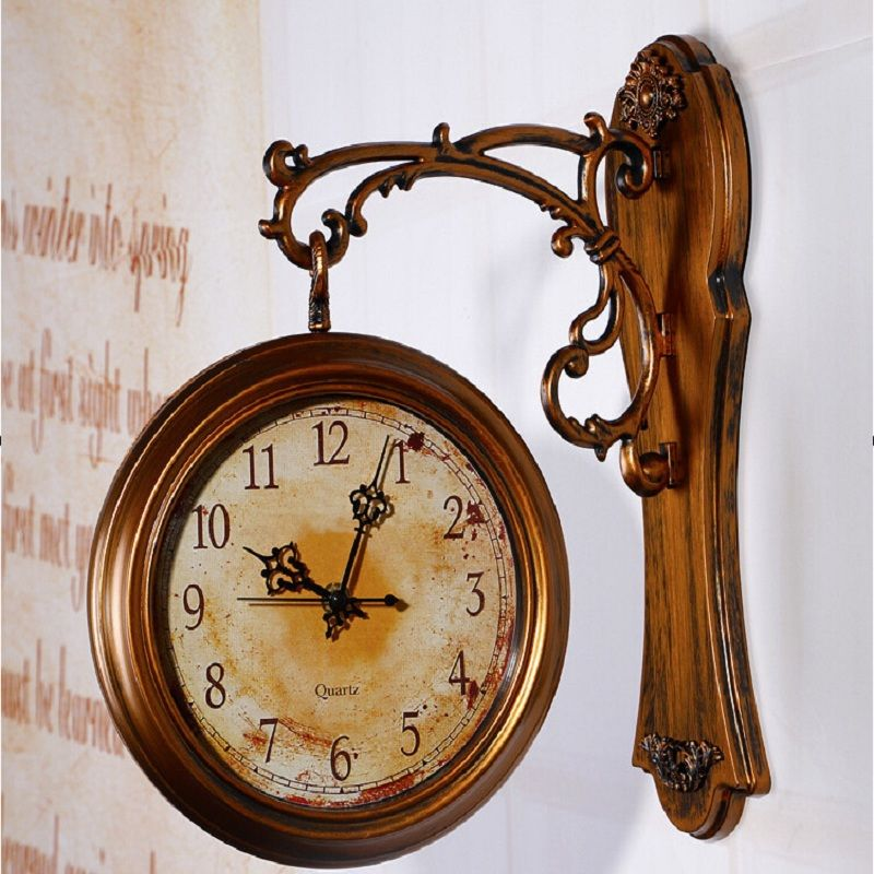 Wall Clock Modern Design Double-sided Wall Clock 3D Digital Saat Large Vintage Wall Clocks Reloj Relogio de Parede digital-watch