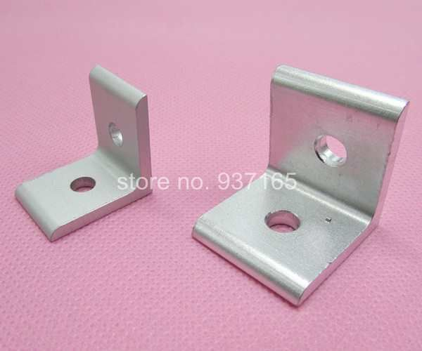 Aluminum Alloy 2 Hole 90 degreee Inside Corner Bracket for Aluminum Profile Extrusion 3030