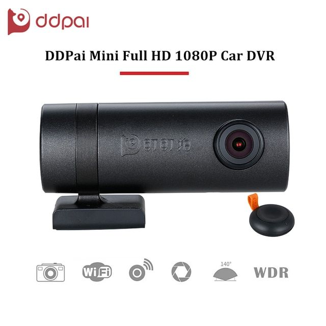 ddpai Mini HD1080P Car DVR Wifi WDR Rotatable Lens Camera Digital Video Recorder Dash Road Camcorder Night Vision for Phone APP