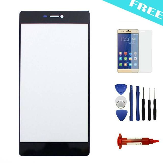 Touch Screen For Huawei Ascend P8 5.2'' Front Outer Glass Lens Cover Replacement+Tools+Film+UV Glue LOCA-Black/White/Gold Colors