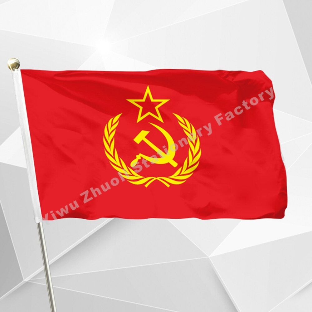 Soviet Union Flag Communism Cold War USSR 90 x 150 cm CCCP Red Communist Flags And Banners For / Victory Day / National Day /