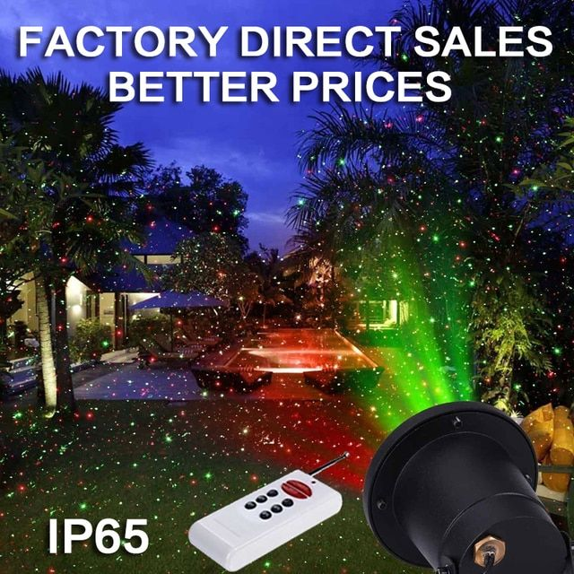 Top IP65 Remote Control  Outdoor waterproof christmas laser projector lights ,red green moving stage light