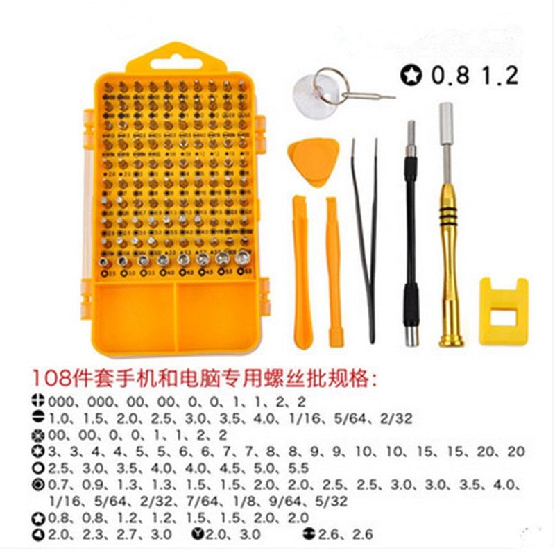 108 in 1 Multi-purpose Screwdriver Set Mini Screwdriver Bits Mobile Phone And laptop Repair Tool Kit Set Tornavida Seti