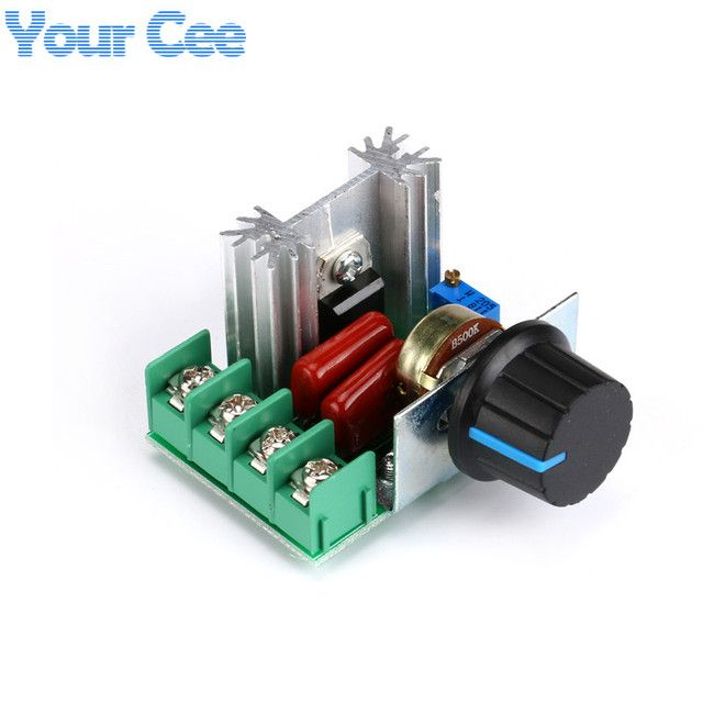 DIY Kit Parts AC 220V 2000W SCR Voltage Regulator Dimming Dimmers Speed Controller Thermostat Thermoregulation