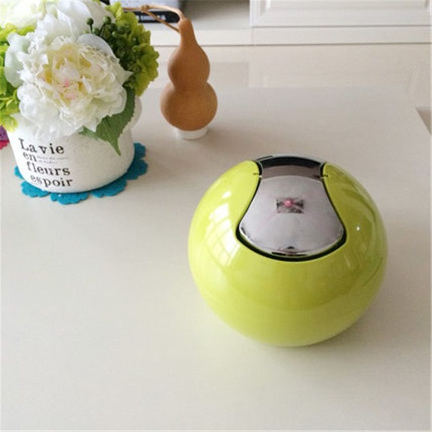 Smart  Household Desktop Small Garbage Bin Paper Trash Bin Bright Color Rubbish Box for Office