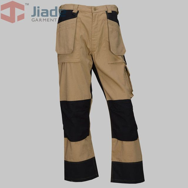 Jiade  Men's Rugged Work Khaki Relaxed Fit  Men's Cotton Ripstop Relaxed Fit Work Pant