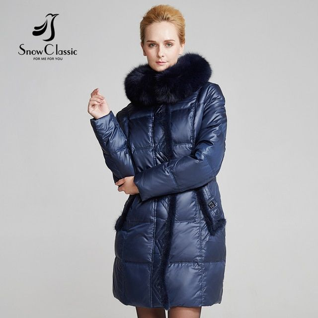 Snow Classic Parka Women Winter Down Coat Female Plus Size 6xl Jacket Real Fox Fur Collar Coats 14371