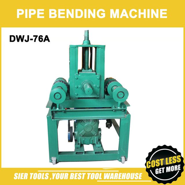 DWJ-76A Pipe Bending Machine/ 3mm max Thickness/76mm Max Round Pipe/Tube bend machine/machine with all 24pcs model