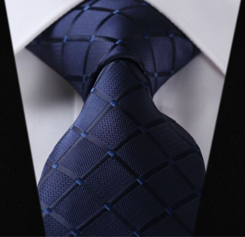 "Paisley Check Dot 3.4"" 100%Silk Wedding Jacquard Woven Men Classic  Man's Tie Necktie #I2"