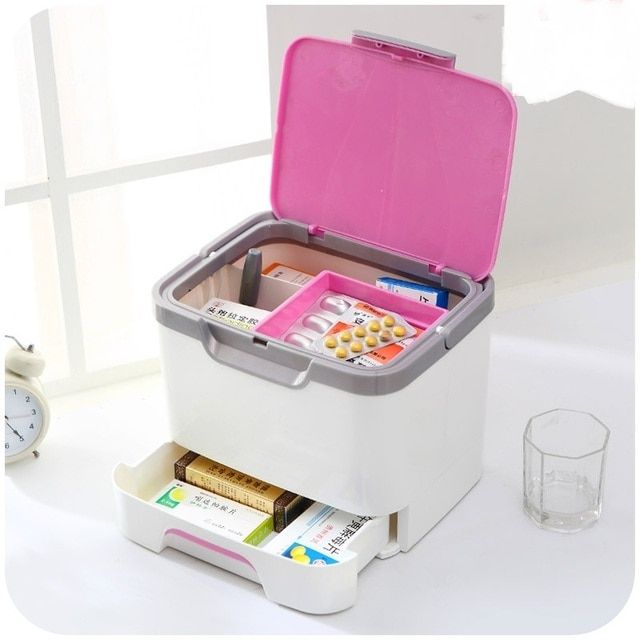 Household Multilayer medicine box Medical Kit / Emergency care medicine box / Portable medical storage box
