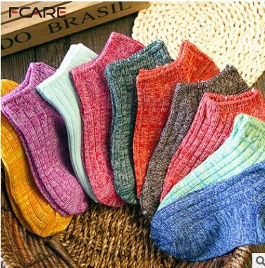 16PCS=8 pairs female sock slippers cotton national invisible shallow mouth brand Wool socks candy color anti-odor socks