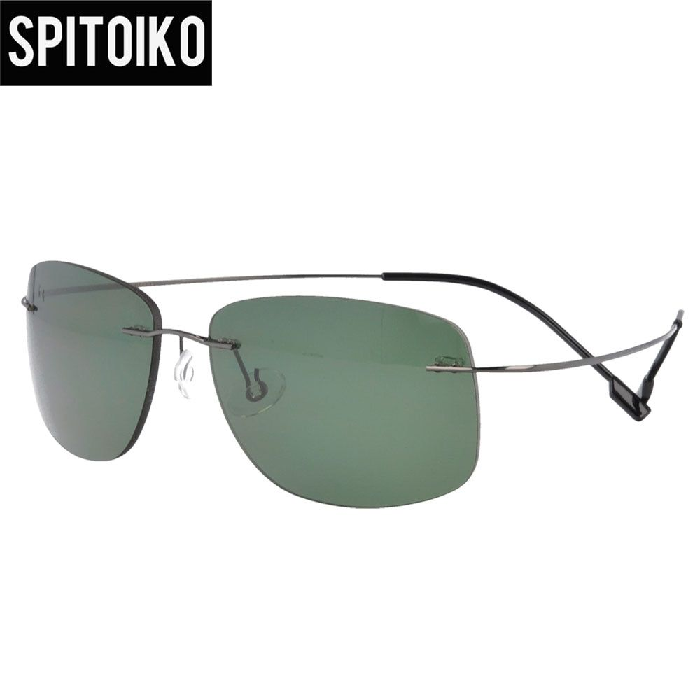 SPITOIKO polarized sunglasses memory metal rimless for men and women fast shipping  PC001