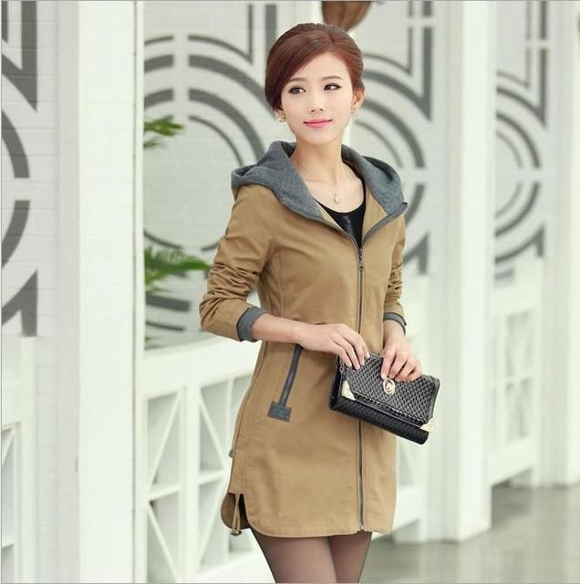 2017 Spring and Autumn hot new fashion women coat jacket Overcoat Slim large size M-5XL