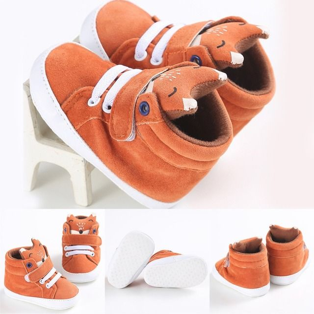 New Matte Cotton Baby Girl Boys Fox High Help Shoes Sneaker Anti-slip Soft Sole Toddler