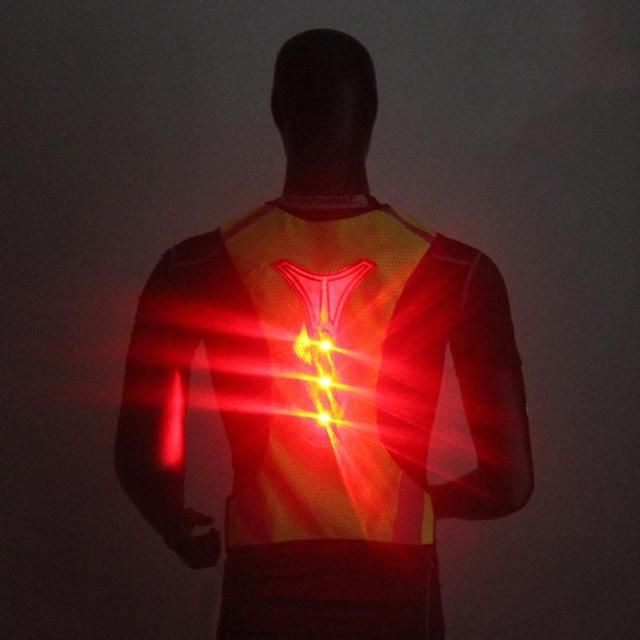 LED Light Reflective Safety Vest Jacket for Night Sports Running Cycling Breathable High Visibility