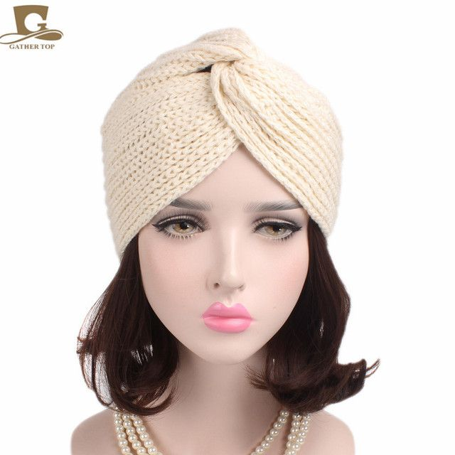 New Women's Winter Warm Knit Turban Cross Twist Arab Hair Wrap Hat Cap Beanie