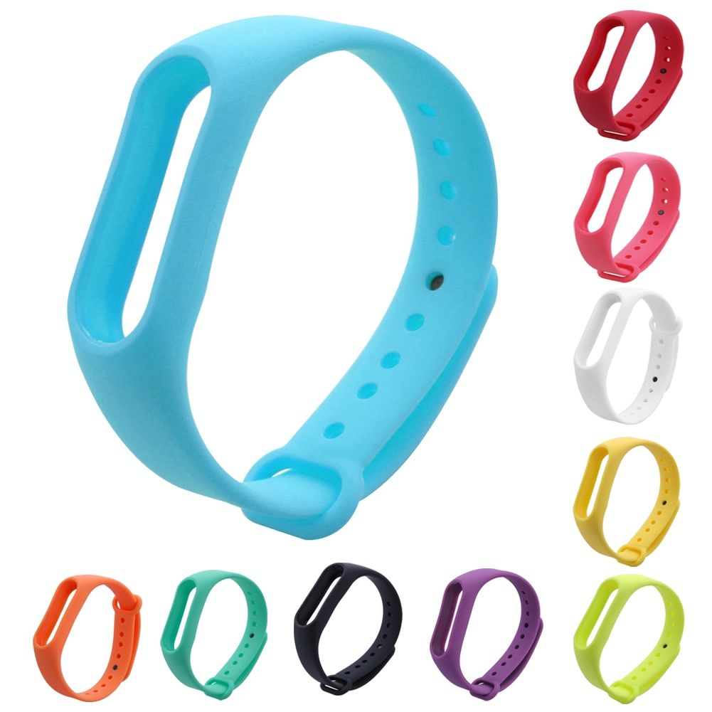 Replace Strap for Xiaomi Mi Band 2 Silicone Wristbands for Mi Band 2 Smart Bracelet 10 for Xiao Mi Band 2
