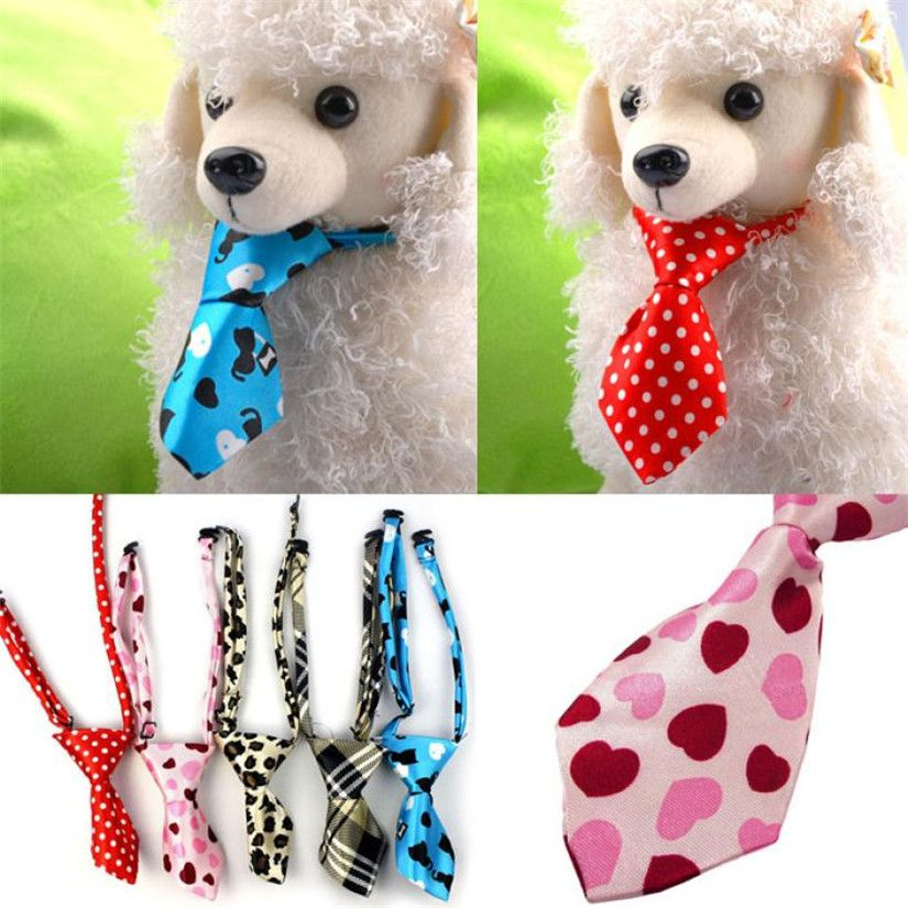 New Qualified 1pcs Multicolor Dog neck tie Dog bow tie Cat tie Pet grooming Supplies Pet headdress  Levert Dropship dig631