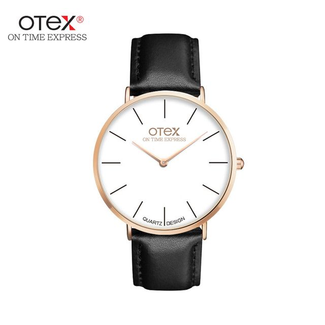 ot01 2016 watches men luxury brand quartz women real leather nylon strap rose gold good Quality new sports casual vintage watch