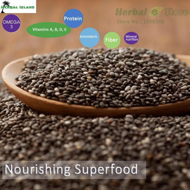Nourishing Superfood Organic Chia Seed 17oz 500g/lot