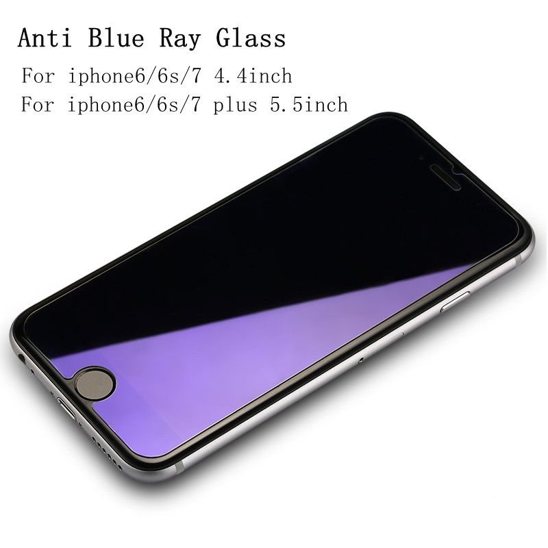 Anti Blue Light Tempered glass film for iphone 4 5 6 6S 7 7Plus Anti violet Anti UV Tempered glass for iphone4 5 6 6S 7 7Plus