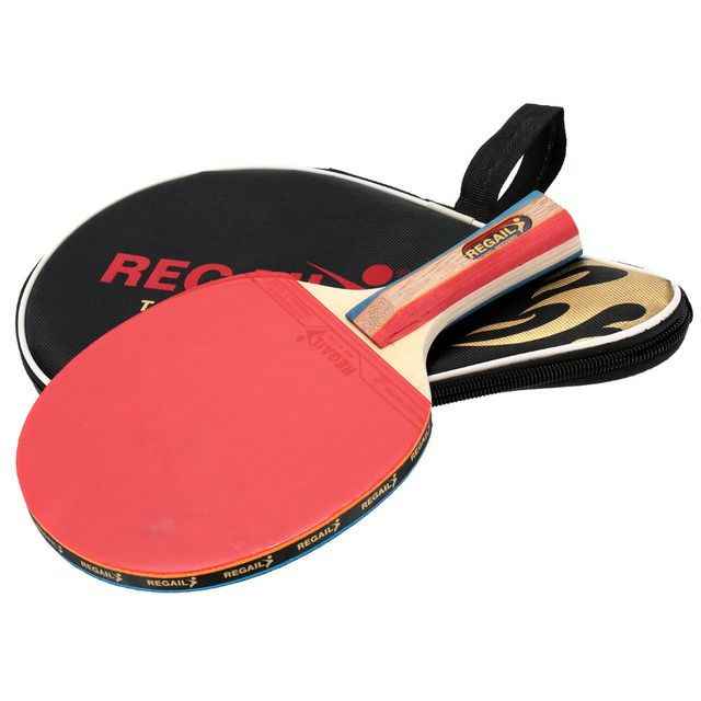 1pc Long Handle Shake-hand Professional Table Tennis Rackets Ping Pong Pingpong Racket Paddle Bat with Case Bag
