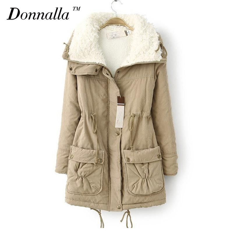 New Autumn Winter Jacket Coat Women Parka Woman Clothes Solid Long Jacket Slim  Women's Winter Jackets And Coats 2016