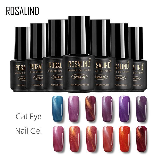 ROSALIND Gel 1S 3D Cat Eyes LED UV Soak-off Gel Lacquer Varnish UV Nail Gel Polish 7ML UV GEL For Nail Art