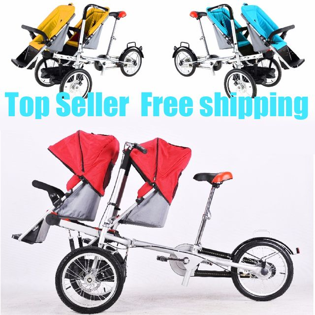 taga twins nucia  double baby mum stroller tricycle bike