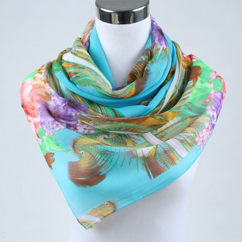 2019 new arrival Autumn and Winter fashion casual women scarf print polyester chiffon silk scarf women's apparel accesories 002