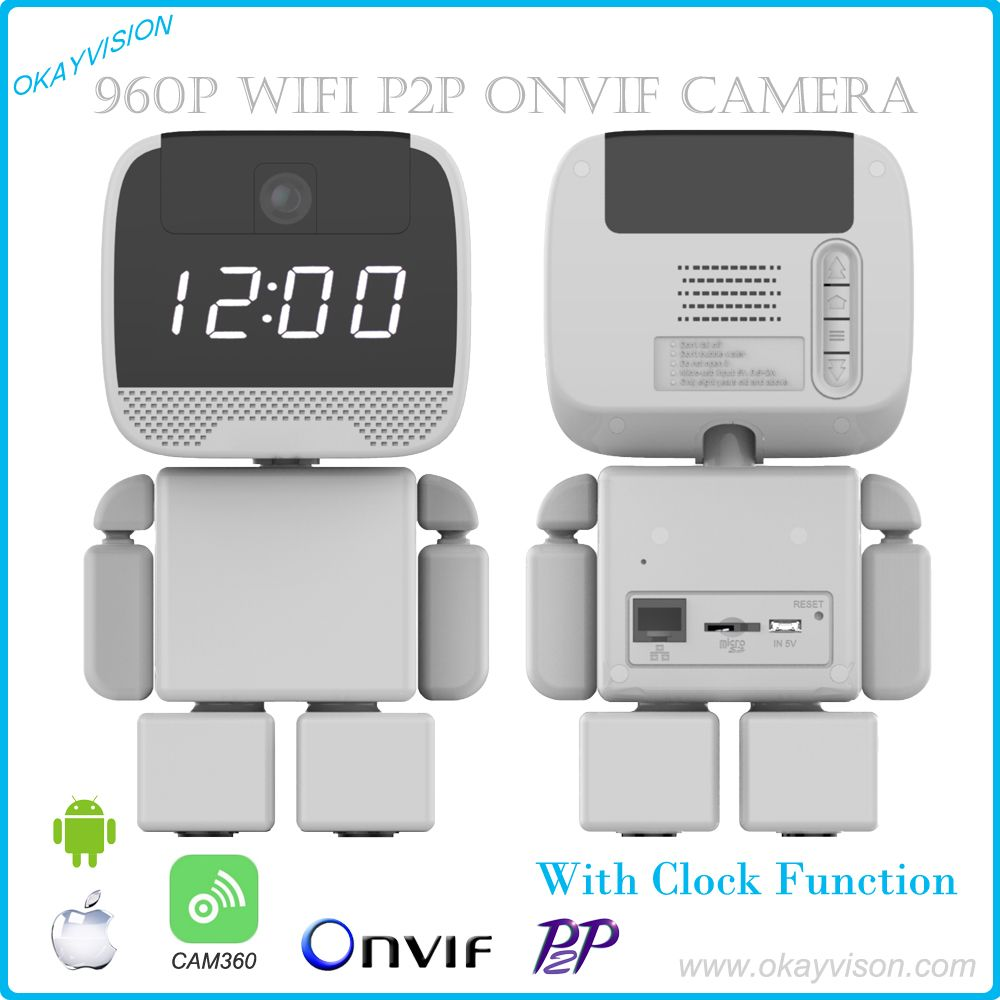Watch-dog IP Camera Wireless Mini IP Camera Surveillance Camera Wifi 720P Night Vision CCTV Camera Baby Monitor with Clock show