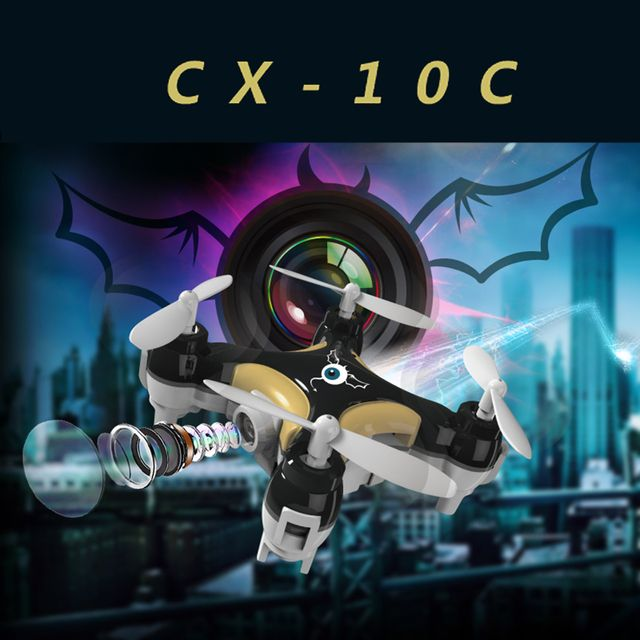 2016 New  Quadcopter CX-10C CX10C Mini RC Drone Updated Version With 0.3MP HD Camera 2.4G 4CH 6-Axis Helicopter Toys