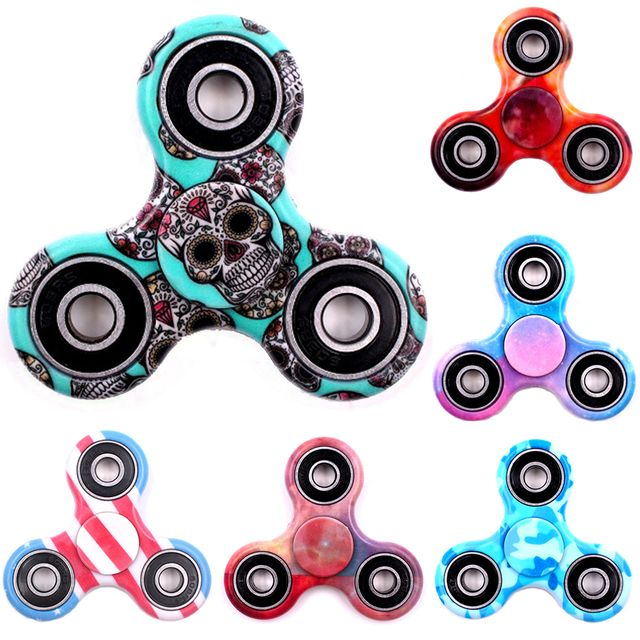 Hot Tri-Spinner Fidget Toy Plastic Stress Wheel EDC Anti-Stress Hand Spinner Handspinner For Autism and antistress,finger spiner