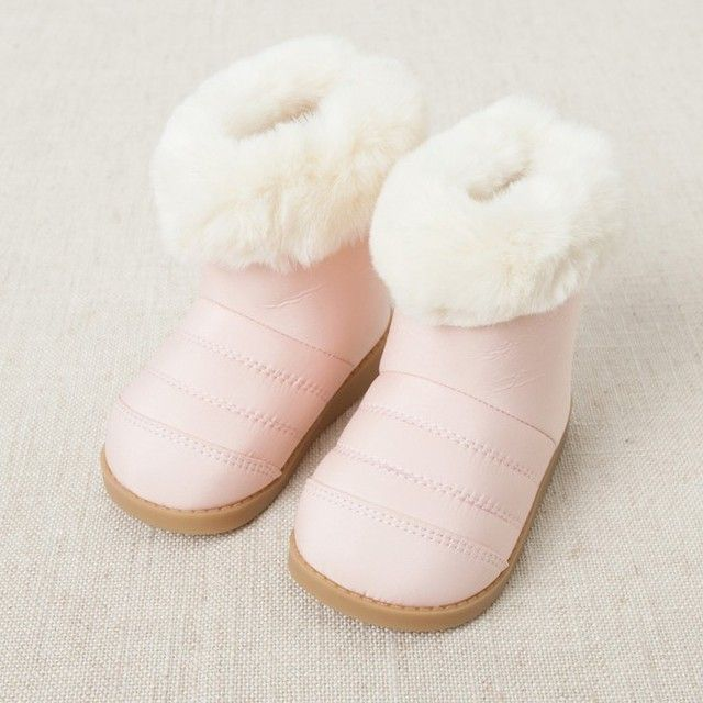 Free Shipping Top Quality 2016 Girl fashion Winter Snow Boots Add Fur keep warm Boots Pink gray Platform boots