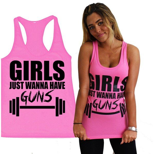Summer Gym Clothes Women Top Backless Letter Print Loose Casual Top All Match Cotton Sexy Pink Tank Top Sleeveless T-shirt &Vest
