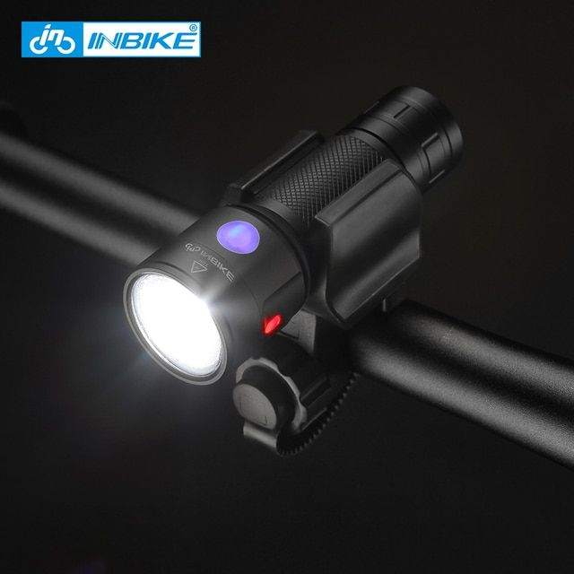 CoolChange Bicycle Accessories Battery Handlebar Bicycle Light Aluminum Rechargeable Bike Headlight Bicycle Lamp Led Flashlight