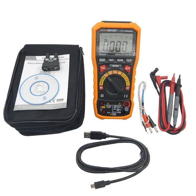 Digital display multimeter MS8236 Auto Range Auto Power off Digital Multimeter with Temperature Test and Data Logger