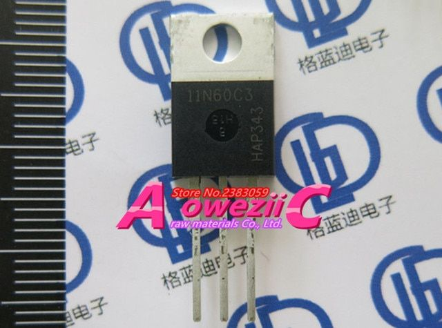 Aoweziic 2017+ 100% new imported original  SPP11N60C3  SPP11N60 11N60C3  TO-220  N trench FET 11A 600V