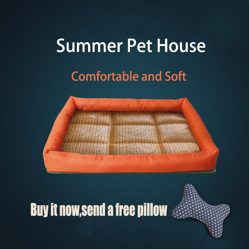 APAULAPET Free Pillow Pet Beds Cool Dog Blanket Pet Cat House Mat Dogs Cooling Pad Summer Dog Bed For Large Dogs