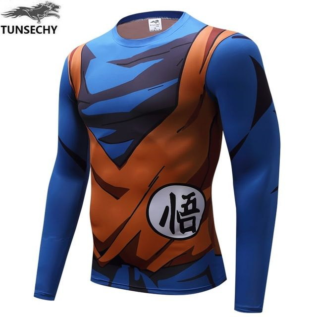 TUNSECHY brand Dragon Ball Z Vegeta long T Shirts Women Men Anime Super Saiyan Goku/Majin Buu/Piccolo/Cell DBZ T shirt 3D Tees
